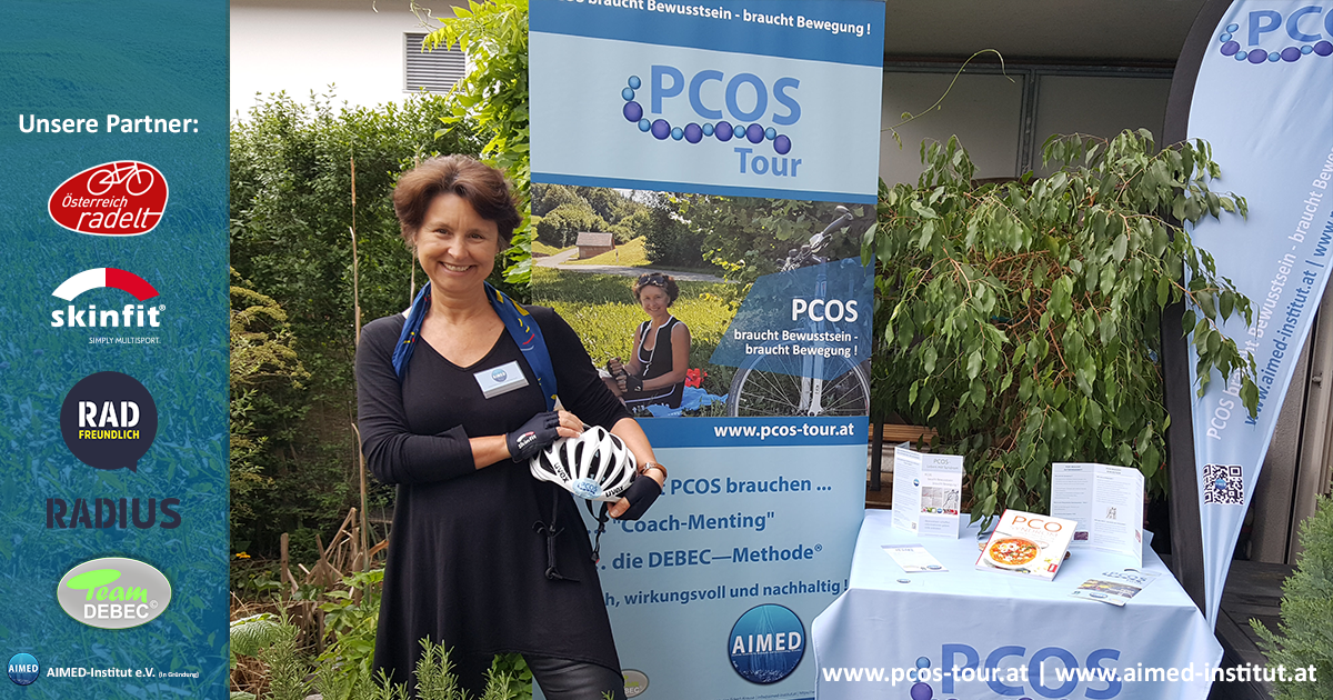 Marion am PCOS-Infostand
